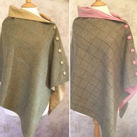 Silk lined tweed capes